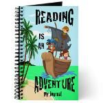 "Reading Journals in SPANISH in a variety of fun designs- ""Leer es una Aventura"" (Reading Is An Adventure)- Pirate Kids design 100 Days Of School, School Fun, Back To School, Reading Journals, Pirate Kids, School Signs, 100th Day, Teacher Appreciation, Teacher Gifts"