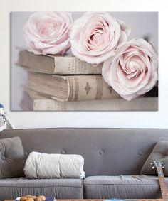 vintage rose canvas art