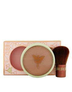 Pixi - Poudre bronzante beauté + pinceau Kabuki