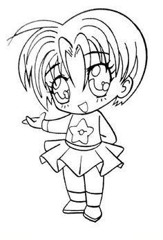 Manga Fargelegging for barn. Tegninger for utskrift og fargelegging nº 22