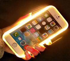 Phone Cases - Luxury LED Light Selfie Case For iPhone 6 6s / 6s Plus Fashion Illuminated Phone Back Cover FREE SHIPPING