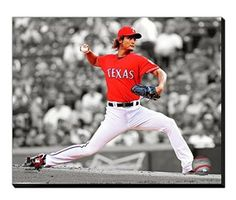 Yu Darvish Canvas Framed Over With 2 Inches Stretcher Bars-Ready To Hang- Awesome & Beautiful