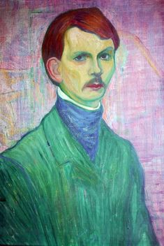 Axel Törneman (Swedish 1880–1925) [Modernism, Expressionism] Self-portrait.