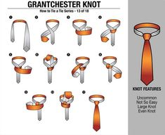 'How to Tie a Tie' Part - Grantchester Knot Other in the series : Four in Hand Knot // Half Windsor Knot // Full Windsor Knot // Nicky Knot // Bow Tie // Kelvin Knot // Oriental Knot // Pratt. Half Windsor, Windsor Knot, Different Tie Knots, Four In Hand Knot, Eldredge Knot, Bow Tie Knot, Tie A Necktie, Scarf Knots, Ties