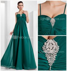 A-line Sweetheart Floor-length Chiffon Evening Dress (466612) - USD $ 89.99