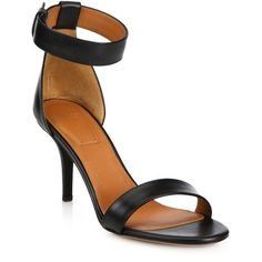 Givenchy Infinity Line Leather Ankle-Strap Sandals ($695) ❤ liked on Polyvore featuring shoes, sandals, apparel & accessories, infinity shoes, open toe leather sandals, wrap around sandals, givenchy shoes and ankle wrap sandals