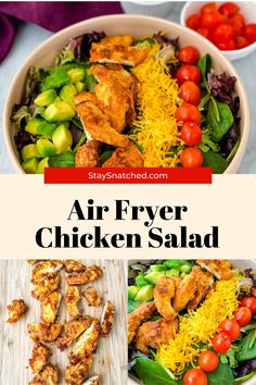 This Crispy Fried Chicken Salad is the perfect meal to add fresh vegetables to a weeknight meal. This dish is made with strips of chicken breasts or tenders and paired with greens, shredded cheese, and your favorite dressing. Fried Chicken Salads, Crispy Fried Chicken, Air Fryer Dinner Recipes, Air Fryer Healthy, Party Food And Drinks, Country Cooking, Chicken Breasts, Fresh Vegetables, Weeknight Meals