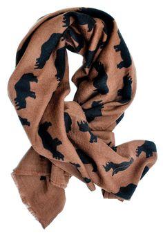 Rhino print wool scraf, $130.00 from Leif Shop