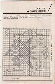 Patrón #456: Cortina a punto de red a Crochet | CTejidas [Crochet y Dos Agujas]