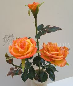 Maple Mixed Media: Step by Step instruction on how to make Clay Rose Flower