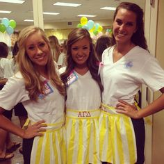 Love these Alpha Gamma Delta recruitment outfits for Philanthropy Day