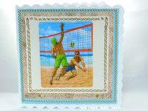 Grußkarte Strand Volleyball
