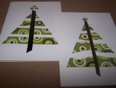 Looking for a pretty but inexpensive way to create some holiday cards that everyone will love? Even the kids can help you make these, they are that easy, and what wonderful results! Diy Christmas Cards Stampin Up, Simple Christmas Cards, Merry Christmas, Christmas Card Crafts, Homemade Christmas Cards, Christmas Cards To Make, Xmas Cards, Kids Christmas, Homemade Cards