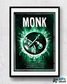 World of Warcraft: Monk Class Symbol print/poster by SodaArcade