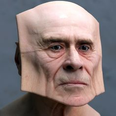 lee griggs forms facial deformations with geometrically-shaped skin