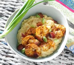 Southern Shrimp & Grits |  I just like a rich, creamy bowl of grits with sautéed shrimp and all the pan drippings ladled on top.  You can absolutely substitute fish fillets (such as trout, catfish or flounder) for the shrimp and have an equally Southern dish of Fish & Grits. | From: southyourmouth.com
