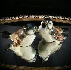 Goebel Western Germany Bird Figurines Pottery Porcelain Love Birds by OldGLoriEstateSale on Etsy