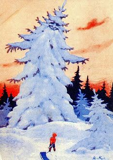 Rudolf Koivu...painting Christmas Tale, Vintage Christmas, Christmas Cards, Xmas, Boy Illustration, Christmas Illustration, Wood Nymphs, Lawrence Alma Tadema, Vintage Children's Books