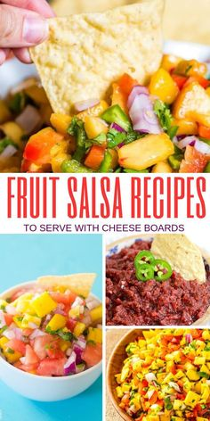 Fun Fruit Salsa To Serve With A Cheese Board | What Kind of Salsa to Put on Your Cheeseboard | Best things to Put on Your Cheeseboard | Salsa Cheeseboard Ideas | #salsa #cheeseboard #recipes #appetizers #snacks Watermelon Salsa, Mango Fruit, Fruit Salsa, Peach Salsa Recipes, Best Salsa Recipe, Frugal Meals, Frugal Recipes, Cranberry Salsa, Fun Fruit