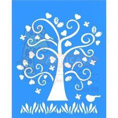 Stencil Árvore Coração 20x25 - OPA