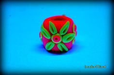 10 mm hole uv dread bead with handsculpted uv flowers by InnerMind, €4.95 :: Shop DreadStop.Com for Leather Dreadlock Cuffs, Ties & Dread Beads #dreadstop
