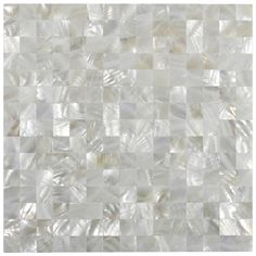 Show white square groutless pearl shell tile