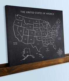 United States US Map Vinyl Art Wall Decal X Vinyls - Us map chalkboard