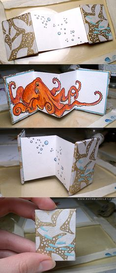 Illustrated Octopus Miniature Book 3 by Ruth Bleakley