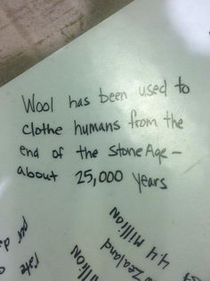 Wool fact | Did you know?