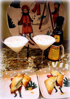 Gingerbread Martini - 1 part vanilla vodka, 1 part frangelico, 1/2 part butterscotch schnapps, 1/2 part half and half and shook in a shaker.  Garnish with fresh nutmeg.