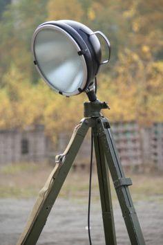 Vintage Tripod Stehlampe Scheinwerfer Stehleuchte Dreibein Holz Stativ Lampe Retro er Bild home sweet home Pinterest