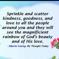 Sprinkle and scatter