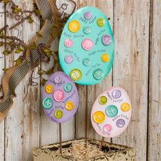 Bright Easter Eggs with Buttons