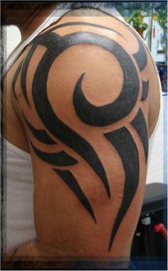 Tribal tattoo by calaveratat2.com Bull Tattoos, Badass Tattoos, Life Tattoos, Body Art Tattoos, Sleeve Tattoos, Tattoos For Guys, Tatoos, Tribal Shoulder Tattoos, Tribal Arm Tattoos