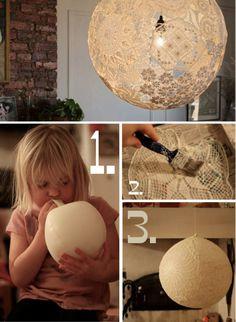 diy, diy projects, diy craft, handmade, diy doily lamp - Folkvox - Imágenes que hablan de mí -
