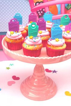 Put bags on cupcakes and actual shopkins in the punch out game. No fighting over cupcakes!