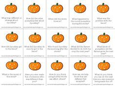 FREEBIE Monday: Story Comprehension Questions: Spookley the Square Pumpkin!   Communication Station:Communication Station: