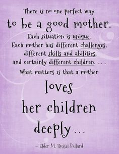 It doesn't apply to you until you become a Mom. Then every once in a while, there are the know it all's who think they raised their children perfect and they know all the answers. I only ask the people whose parenting skills I admire.