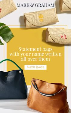 Customize any bag to be uniquely yours with personalized monograms. Tap the  Pin to shop 05d23689b19ee