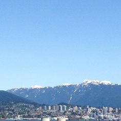 The view from the sea wall in Vancouver, BC.