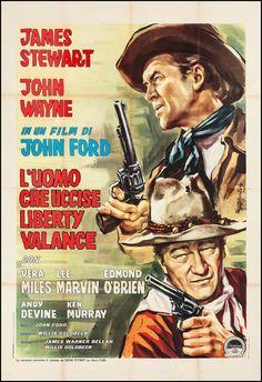 Titolo originale: The man who shot Liberty Valance Durata:110' Anno:1961 Produzione:USA Regia:John Ford Cast: John Wayne, James Stewart, Lee Marvin, Vera Miles