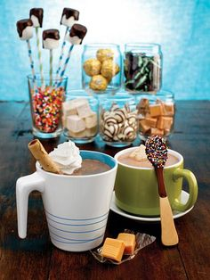 Steamy mugs of cocoa + everyone's favorite mix-ins = cozy winter fun for the whole family!