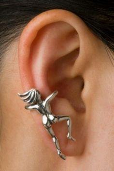 Mens aan oor