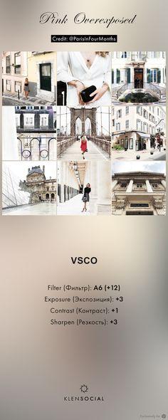 ***Pink Overexposed*** Графические настройки VSCO//VSCO inspired presets