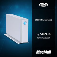 For massive storage, check out the 6TB #LaCie D2 #Thunderbolt2 drive at MacMall.
