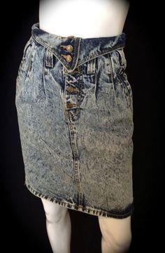 80s Acid Wash Skirt