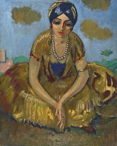 Kees van Dongen - Chica egipcio con un collar de perlas | Fuente: worldpaintings.tumblr.com