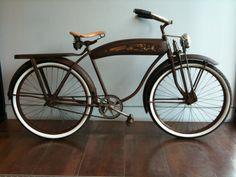 The Full Monty: Hawthorne Deluxe Mens Bicycle, ca. Bici Retro, Retro Motorcycle, Bicycle Design, Bicycle Art, Bicycle Women, Vintage Bicycles, Custom Bikes, 1940s, Rat Bikes
