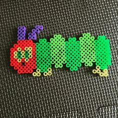 Very Hunger Caterpillar perler beads by fumiehonomam
