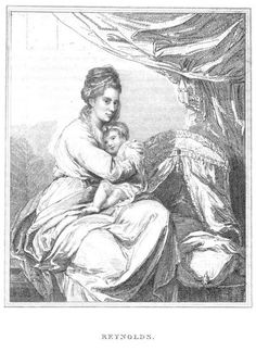 """#28: Sir Joshua Reynolds, """"Portraits of Mrs. Angerstein and Child.""""  From Young's CATALOGUE. In a private collection?"""